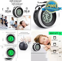 Loud Alarm Clock for Heavy Sleepers Battery Operated - Dual