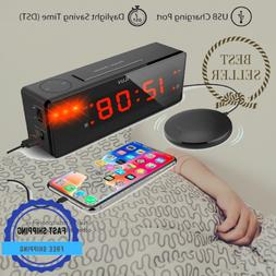 Loud Alarm Clock For Heavy Sleepers And Deaf Hearing With Us