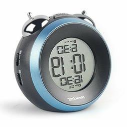 Reacher Loud Alarm Clock for Heavy Sleepers - Dual Alarm Clo