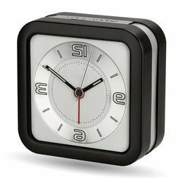 Peakeep Loud Melody Alarm Clock, Battery Operated Quartz Ana