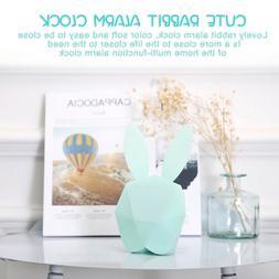 Lovely Cute Rabbit Bunny Digital Alarm Clock LED Sound Night