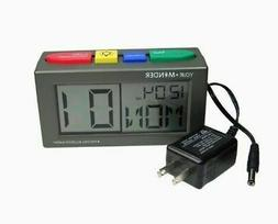 Medcenter Medication Reminder Talking Alarm Clock + Adapter