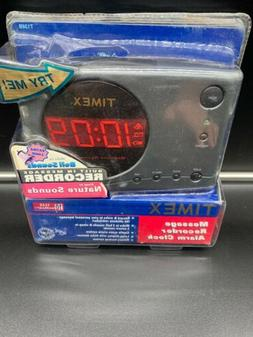 Timex Message Recorder Alarm Clock with Nature Sounds T138B