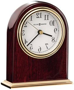 Metal Base Table Clock with Waterfall Bezel