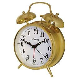 WESTCLOX 70010G Metal Twin Bell Alarm Clock