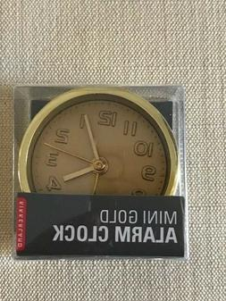 Kikkerland Mini Gold Alarm clock Analog AC10-A New in Box Fr