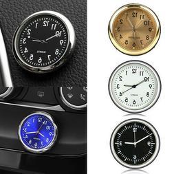 Pocket Mini Quartz Analog Watch Stick-On Clock Fit For Car B
