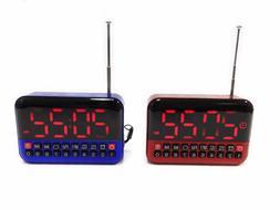Mini Portable FM/AM Radio Speaker Alarm Clock Large Digital