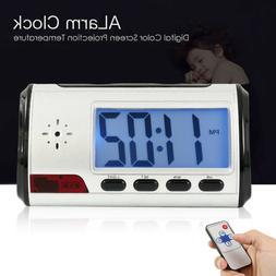 Mini Spy Camera Alarm Clock DVR Recorder Hidden Nanny Cam DV