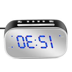 "MoKo Mirror Alarm Clock, Large 1.4"" LED Display Table Desk L"