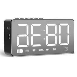 Mirror Smart Bluetooth Alarm Clock Speaker with FM Radio Mus