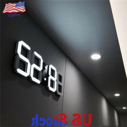 Modern 3DLED Digital Three-dimensional Wall  Alarm Clock Ele