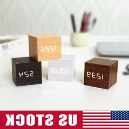modern cube wooden wood digital led desk