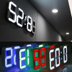 modern digital 3d led wall clock alarm