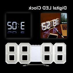 Modern Digital LED Table Desk Night Wall Clock Alarm Watch 2