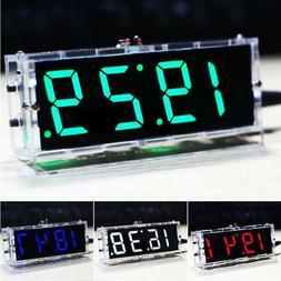 Modern Large 4 Digital LED Alarm Clock Alarm Snooze Brightne