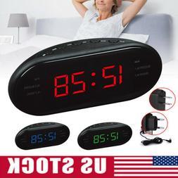 Modern LED Digital AM/FM Alarm Clock Buzzer Radio Snooze Sle