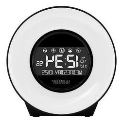 LA Crosse Technology Mood Light Alarm Clock with Nature Soun