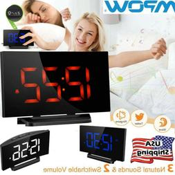 Mpow Digital Snooze Alarm Clock 5'' LED Display Clock Curved