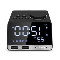 Multifunction Bluetooth 4.2 Radio Alarm Clock Speaker LCD wi