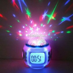 Music Alarm Clock With Calendar Thermometer Star Sky Project