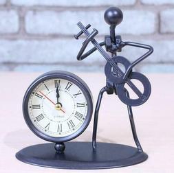 Music Iron Man Crafts Clocks Creative Quartz Alarm Clock Dec