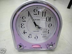 Seiko Musical Alarm Clock pink color 18 melody,Lumibrite Sno
