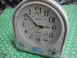 Seiko Musical Alarm Clock white color 18 melody Lumibrite Sn