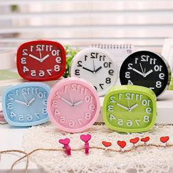 Mute Alarm Clock Stereo Quiet Clocks Battery Bedside Desk An