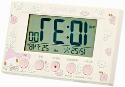 My melody Alarm clock Radio wave clock Temperature and humid