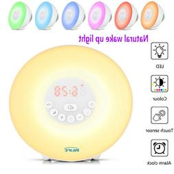 Natural Wake-Up Light Sunrise Simulation Alarm Clock USB LED