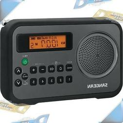 NEW SANGEAN AM/FM Digital Portable Receiver Alarm Clock Radi