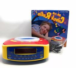 New Optimus AM FM Radio Alarm Clock Kids Retro NOS