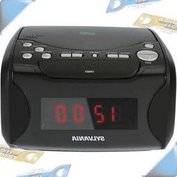 NEW SYLVANIA AM/FM USB-Charging CD Player Dual Alarm Clock R