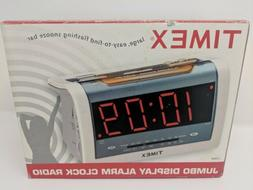 NEW - CA Timex JUMBO LED T256S ALARM Clock Radio 7W x4H.