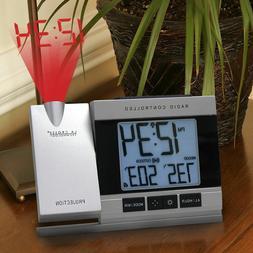 NEW LA CROSSE WT-5220U-IT ATOMIC PROJECTION ALARM CLOCK WITH