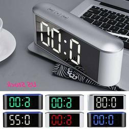 New Modern Digital LED Table Desk Wall Clock Alarm Watch Nig
