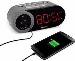 NEW Original Sharp LED Digital Loud Alarm Clock with Snooze