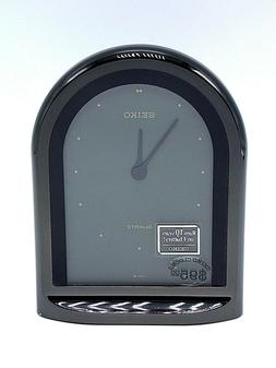 NEW SEIKO QUARTZ BLACK CLOCK OSG208K CAL 45000 Japanese Cloc