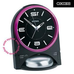 New SEIKO Raiden Loud Bell Alarm Clock With Snooze Quartz Pi
