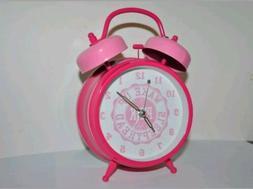 NEW RARE PINK VICTORIA'S SECRET BELL ALARM CLOCK! PROP COLLE