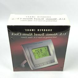 New Sealed - Sharper Image U.S. Atomic Travel Alarm Clock Se