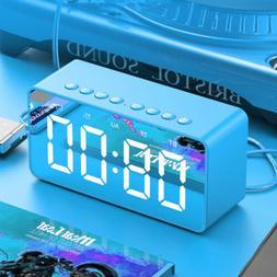 NEW Speaker Docking Station Bluetooth Alarm Clock Dock For i