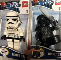 NEW Star Wars LEGO Stormtrooper & Death Vader SET of 2 LED T