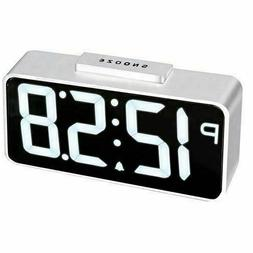 NEW ACCTIM TALOS WHITE LED ALARM CLOCK CHARGES YOUR PHONE, T