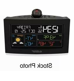 New LA CROSSE TECHNOLOGY Wi-Fi Projection Alarm Clock with A