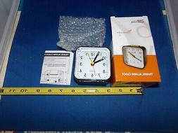 NEW TRAVEL ALARM CLOCK TRAVELWEY Silent Light Snooze  read h