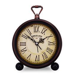 NEW Vintage Retro Decorative Quiet Non-ticking Alarm Desk Cl