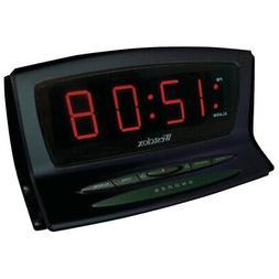 New Westclox 70012BK Instant-Set LED Alarm Clock