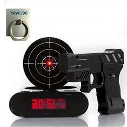 DELIWAY Newwest Version Novelty USB Gun Alarm Clock Funny Ta